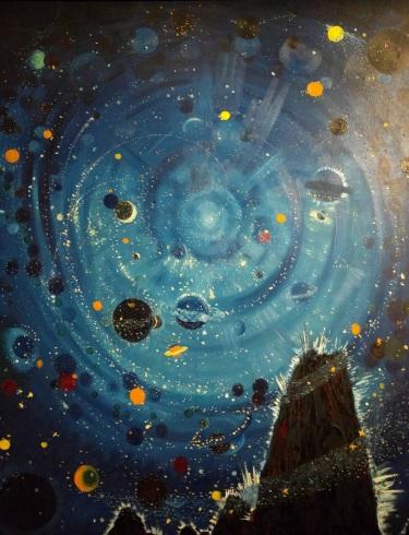 """Starry Sky, Attempt"" by Wenzel Hablik (1909, Musée d'Orsay)"