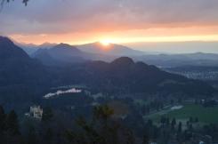 Sunset over Hohenschwangau