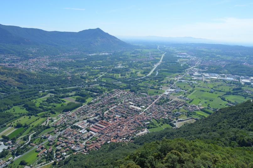 Val Susa towards Torino.