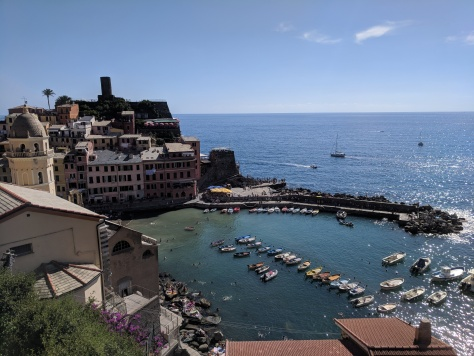 Vernazza from Monterosso side.