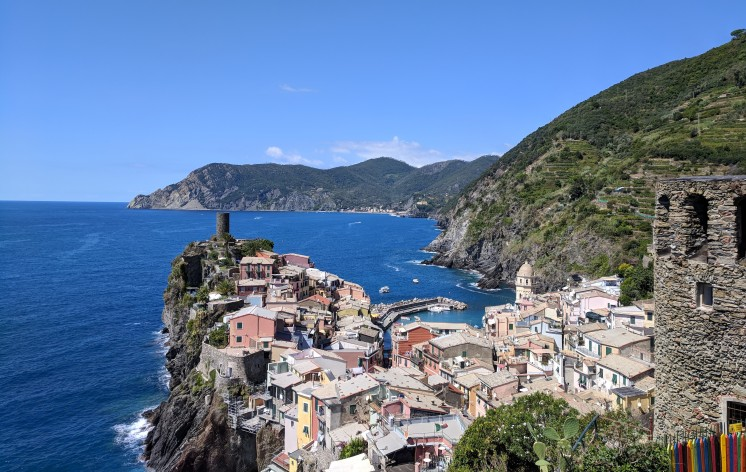 Vernazza from Corniglia side.