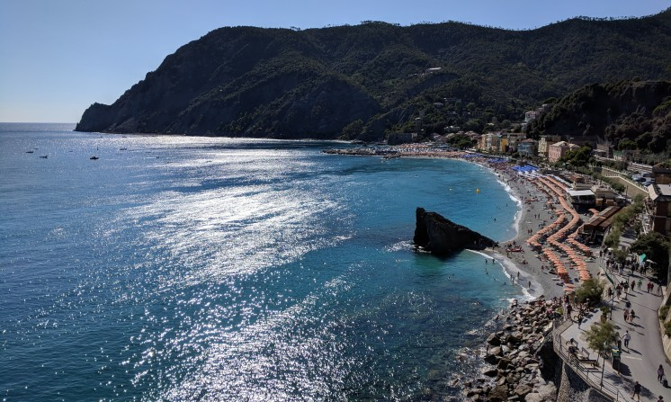 The walk to new Monterosso from the old part.